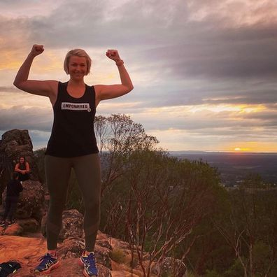 Jessica The Healthy Mummy mountain climbing