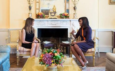 The first ladies always meet after the election.