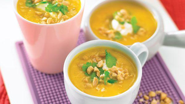 Kumara and corriander soup