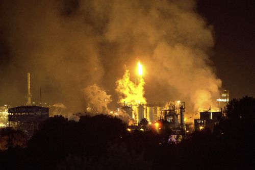 Huge chemical plant explosion leaves two dead