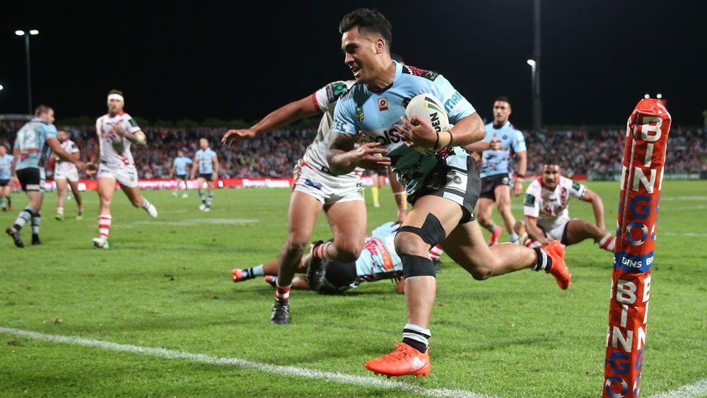 Defiant Dragons beaten by Sharks in NRL