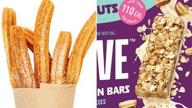 A muesli bar containing doughnut pieces has hit Aussie shelves
