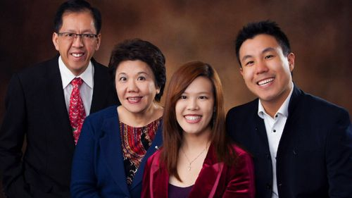 Curtis Cheng with his family.