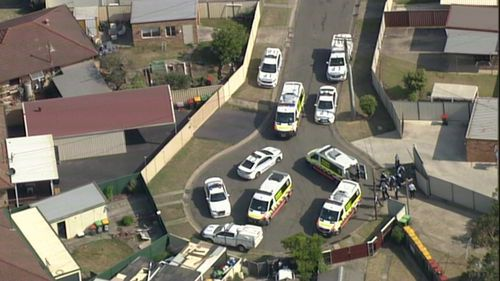 A street was placed in lockdown as emergency services responded to a neighbour dispute in Cartwright this afternoon.