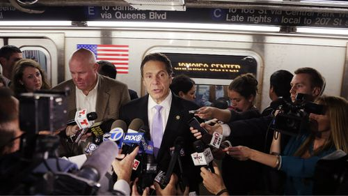 New York Governor Andrew Cuomo addresses media over the alleged plot. (AAP)