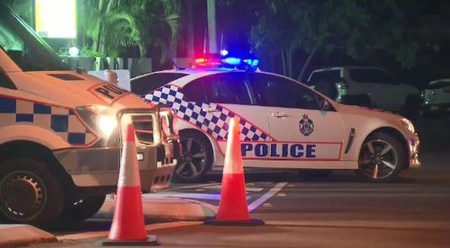 Police at the scene during the siege. Picture: 9NEWS