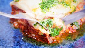 Slow cooked pork and fennel ragu lasagne
