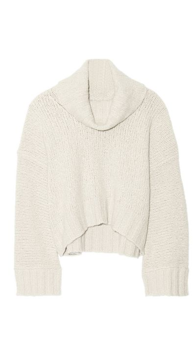 "<a href=""http://www.net-a-porter.com/product/504844/Donna_Karan_New_York/chunky-knit-cashmere-and-silk-blend-turtleneck-sweater"">Turtleneck Sweater, $2,993.73, Donna Karan New York</a>"