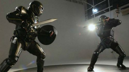 Two kitted out warriors battle in UWM armour (Image courtesy of UWM)