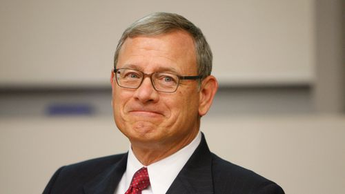 Chief Justice John Roberts wrote the majority opinion, joined by his four conservative colleagues. Picture: AP