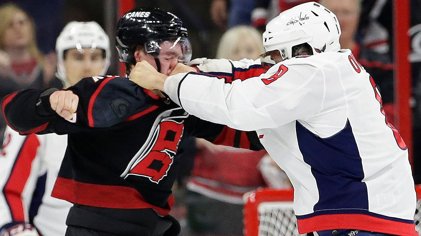 los angeles 917e8 2a373 NHL: Alex Ovechkin fight Andrei Svechnikov, Stanley Cup playoffs