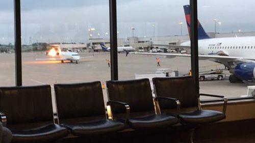 Passengers were immediately evacuated from the flight. (Twitter: @jltaylo)
