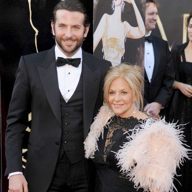 Actor Bradley Cooper and mom Gloria Cooper arrive at the Oscars at Hollywood & Highland Center on February 24, 2013.