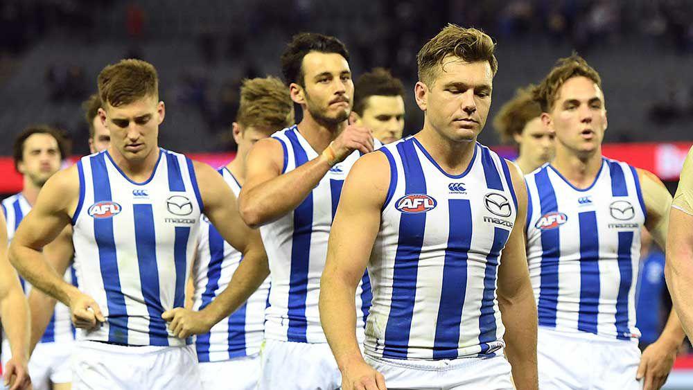 Kangaroos fume at umpiring after AFL loss