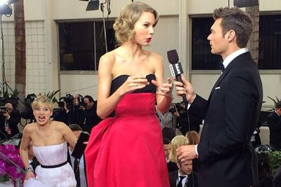 After owning the Oscars in 2013, Jen has already upped the quirky quotient for the 2014 awards season.<br/><br/>At the Golden Globes Jen photobombed Taylor Swift before threatening to push her down the stairs, dropped her bracelet and got adorably shaky during her acceptance speech for Best  Supporting Actress in a Comedy/Musical for <i>American Hustle</i>...
