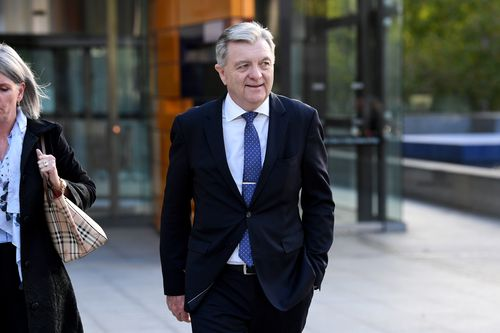 AMP's Anthony 'Jack' Regan leaves the Commonwealth Law Courts Building in Melbourne on Tuesday. (AAP)