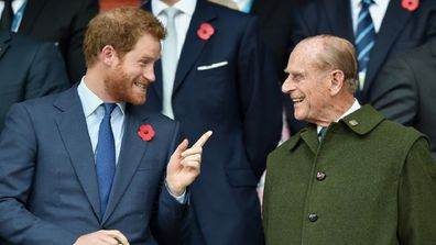 Prince Harry and Prince Philip.