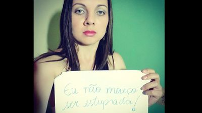"And the hastag #EuNaoMereçoSerEstrupada, which means ""I don't deserve to be raped"" has also gone viral."