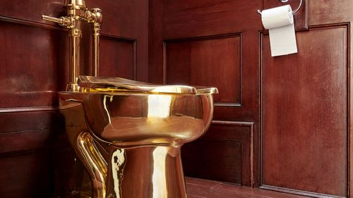 The 18-carat gold toilet was stolen on September 14.