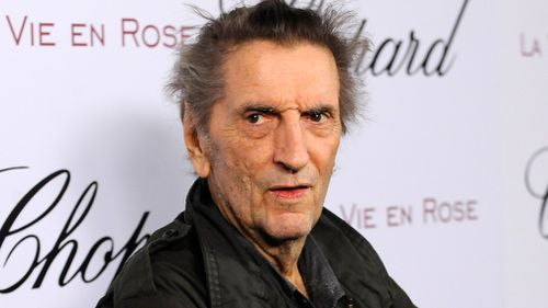 Harry Dean Stanton arrives at a celebration for actress Marion Cotillard in West Hollywood, California in 2008. (AP)