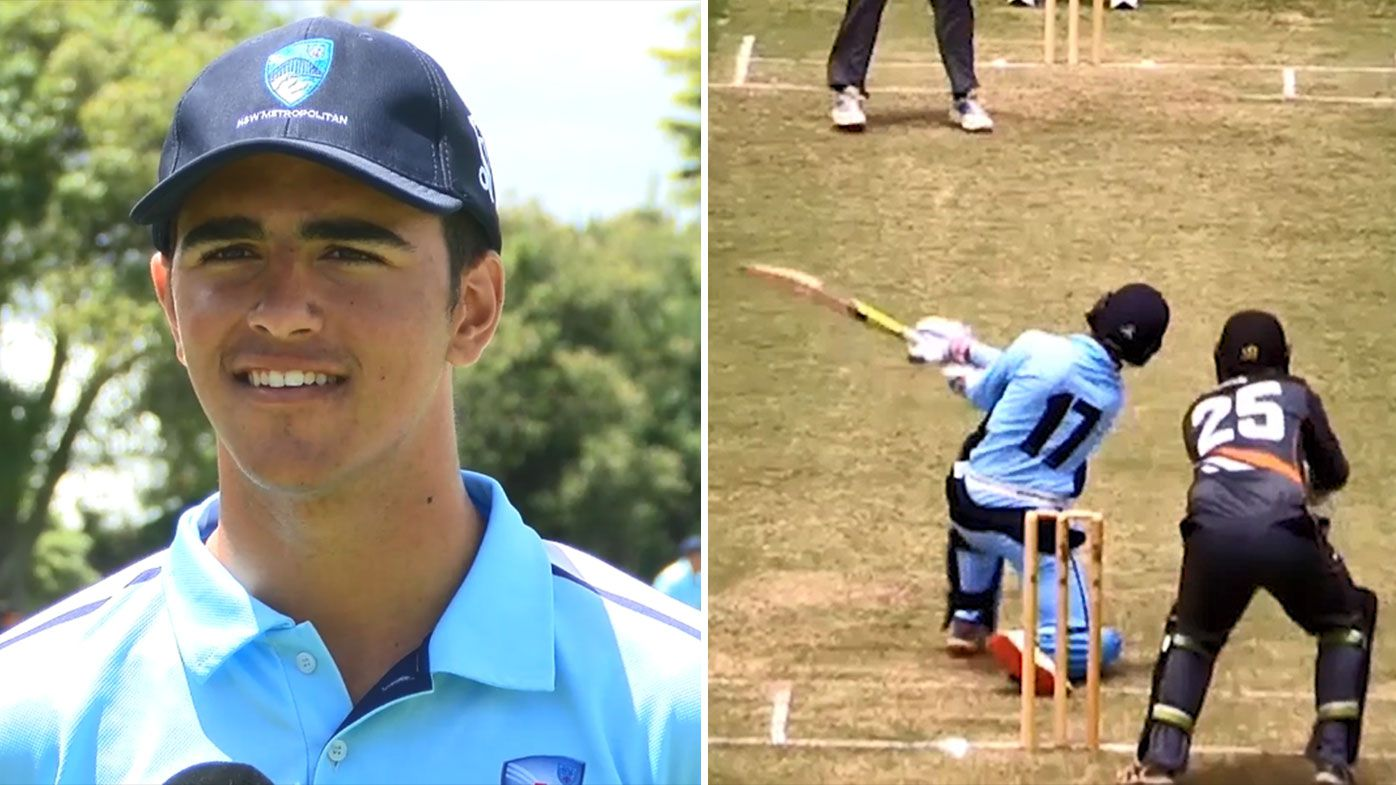 Australian cricket prodigy smashes 17 sixes in record-breaking double century at U19 Championships