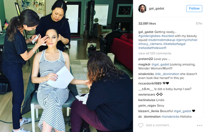 <p>Gal Gadot - getting ready and, according to her Instagram account, excited about it.</p> <p>Image: <em>Instagram</em>/@gal_gadot</p>