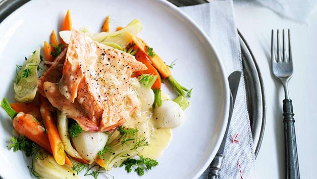 Poached trout