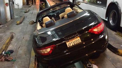 'Drunk' intern crashes boss's Maserati into pit
