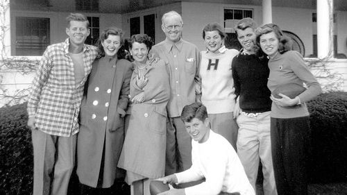The Kennedy family has been living at Hyannis Port for generations. This photo shows them in 1948.