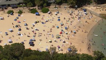 Crowds have hit the beaches today to cool off, but tomorrow is expected to be even busier for Australia Day.