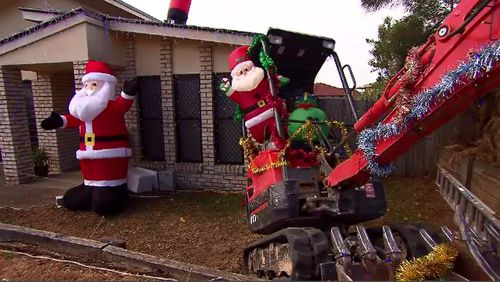 Christmas displays across the country are being targeted by thieves and vandals, residents say.