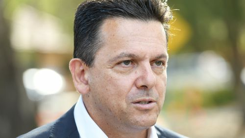 Nick Xenophon is trailing Liberal MP Vincent Tarzia in the seat of Hartley, polls show. (AAP)