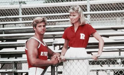 Lorenzo Lamas and Olivia Newton-John in Grease.