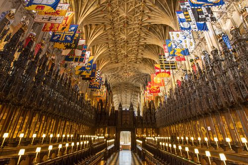 St George's Chapel at Windsor Castle will be the site of the nuptials. (AAP)