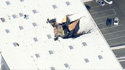 A F-16 fighter jet smashes into commercial building in the US.