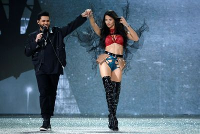 Adriana Lima and The Weeknd, Victoria's Secret Fashion Show 2016