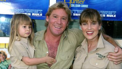 Bindi Irwin, Steve Irwin, and Terri Irwin