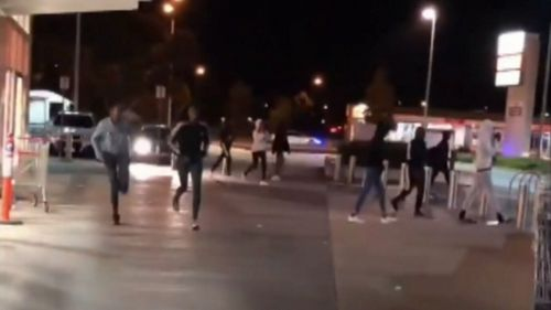 A large group of warring youths were dispersed by riot police in Melbourne's northwest overnight. Picture: Supplied.