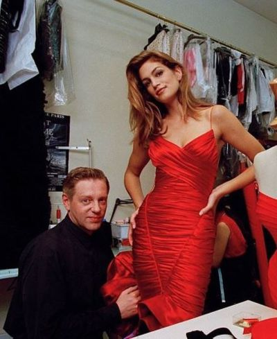 <p><strong>Hervé L. Léger (Leroux) 1957–2017</strong></p> <p>Fashion designer</p> <p>French designer who founded his namesake label in 1985, becoming known his signature 'body-con' ( body concious) garments made from materials traditionally associated with foundation garments to create bandage dresses that would mold and shape the wearer's figure. </p> <div> </div>