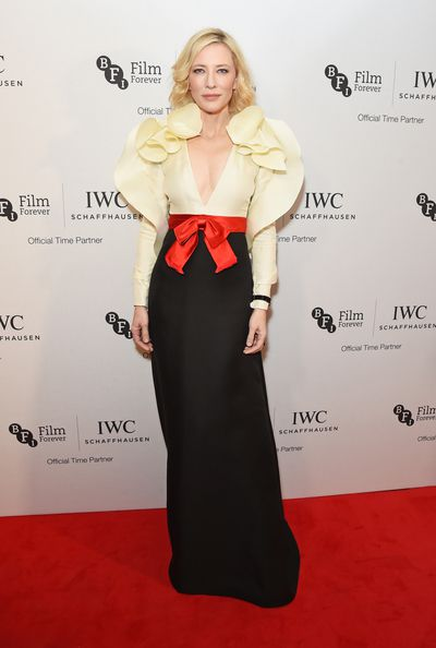 Cate Blanchett in Gucci at the IWC Schaffhausen dinner in London, October, 2016