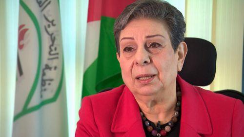 Palestinian legislator Dr Hanan Ashrawi.