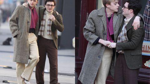 Dane Dehaan and Daniel Radcliffe shooting a scene for Kill Your Darlings. Image credit: Jose Perez/Splash