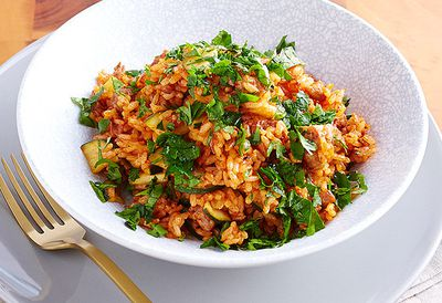Poh's Italian sausage and tomato rice