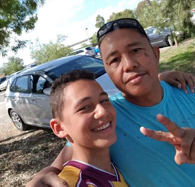Isayah with his dad