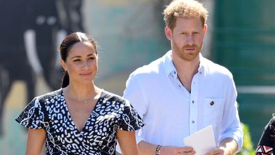 Meghan Markle and Prince Harry on tour in Africa.