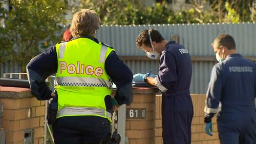 Police at the scene in September last year. Picture: 9NEWS