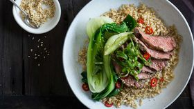 Soy and sesame flat iron steak