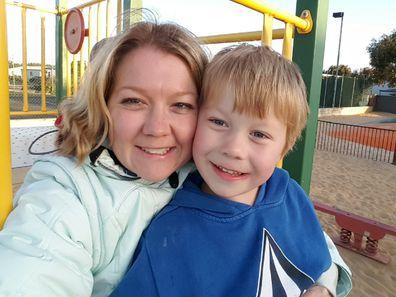 Brayden and mother