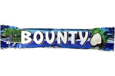 Bounty (45g bar): 218 calories/912kj