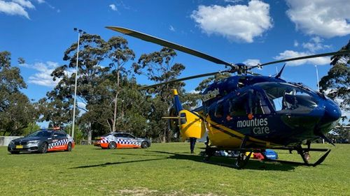 The girl was airlifted to The Children's Hospital at Westmead.